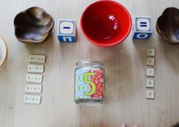 Subtraction with montessori