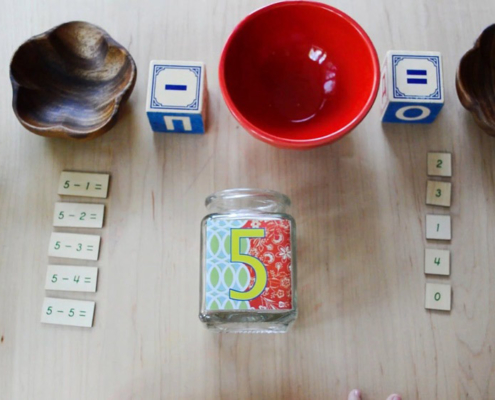 Subtraction with montessori