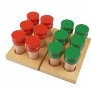 Montessori sensorial smelling jars
