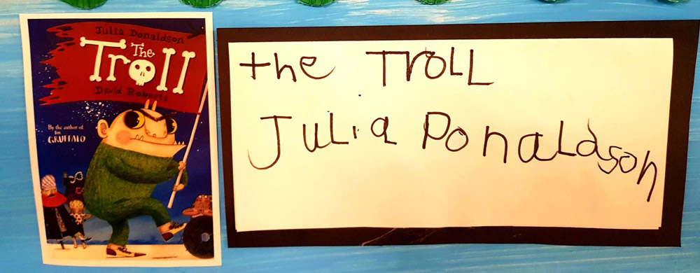 montessori blog on world book day with the troll