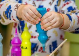 arts and crafts in a montessori home